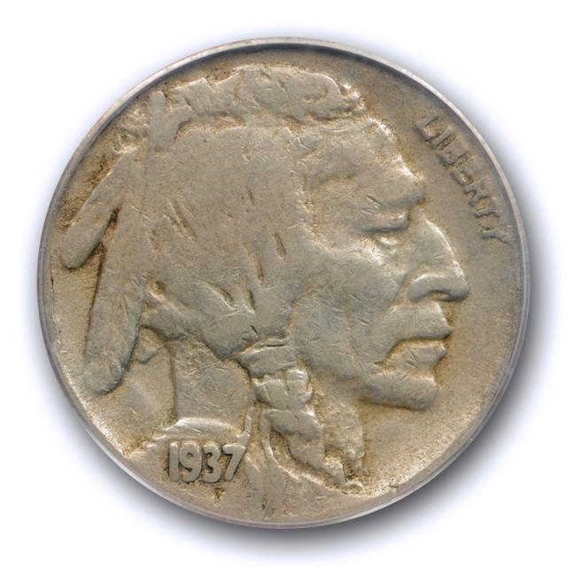 1937 D 5c Three Legged Buffalo Head Nickel PCGS VF 20 3 Legs Very Fine Original Cert#6740