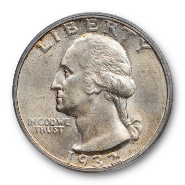 1932 S 25C Washington Quarter PCGS MS 63 Uncirculated Key Date Lightly Toned Cert#1965
