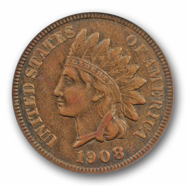 1908 S 1C Indian Head Cent PCGS XF 45 Extra Fine to AU Key Date Cert#1873