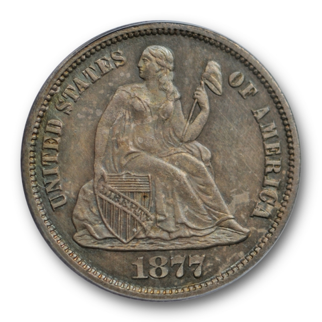 1877 CC 10C Seated Liberty Dime PCGS MS 63 Uncirculated Carson City Mint !