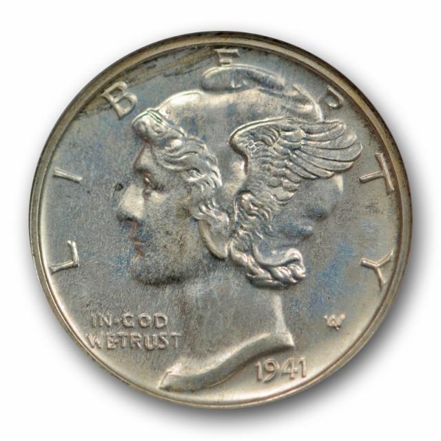 1941 10C Proof Mercury Dime ANACS PF 65 PR Old Holder Low Mintage !