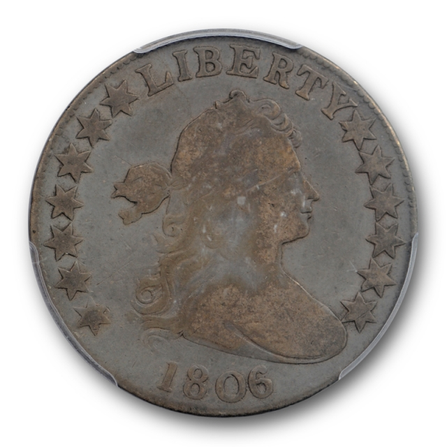 1806/5 50C Draped Bust Half Dollar PCGS VG 8 CAC Approved Overton 102 !