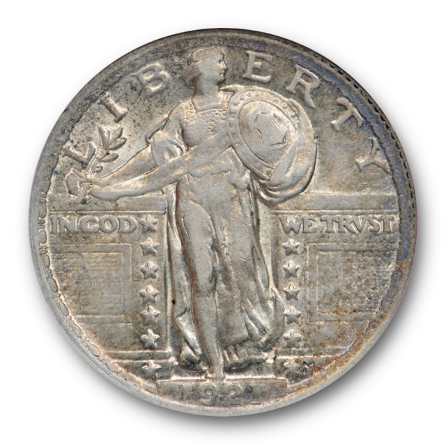 1921 25C Standing Liberty Quarter ANACS AU 55 About Uncirculated Key Date !