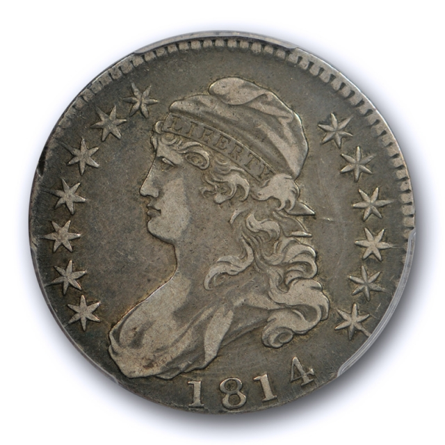 1814 50C Capped Bust Half Dollar PCGS VF 30 Very Fine to Extra Fine Mint Error Coin