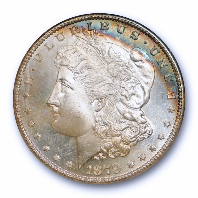 1879 S $1 Morgan Dollar NGC MS 67 Uncirculated Moon Shaped Toned Nice !