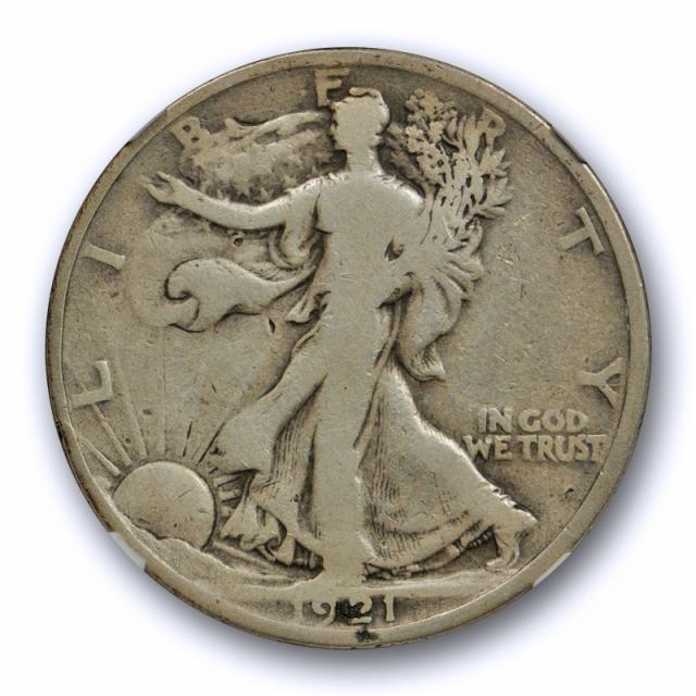 1921 50c Walking Liberty Half Dollar NGC G 6 Good to Very Good Key Date Cert#3019