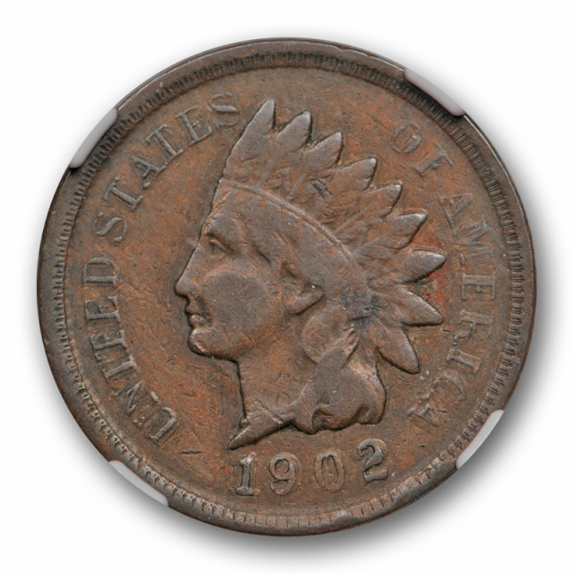 1902 1C Indian Head Cent NGC VF 25 Double Struck in Collar Mint Error Wow!