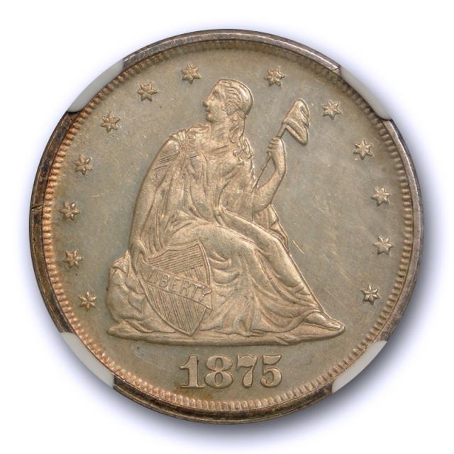 1875 20c Twenty Cent Piece Proof NGC PF 62 PR Cameo CAM Low Mintage !