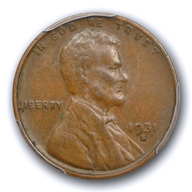 1931 S 1C Lincoln Wheat Cent PCGS XF 40 Extra Fine EF Key Date US Coin Cert#2247