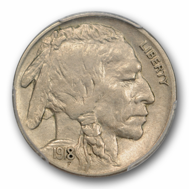 1918 D 5C Buffalo Head Nickel PCGS AU 53 About Uncirculated CAC Approved