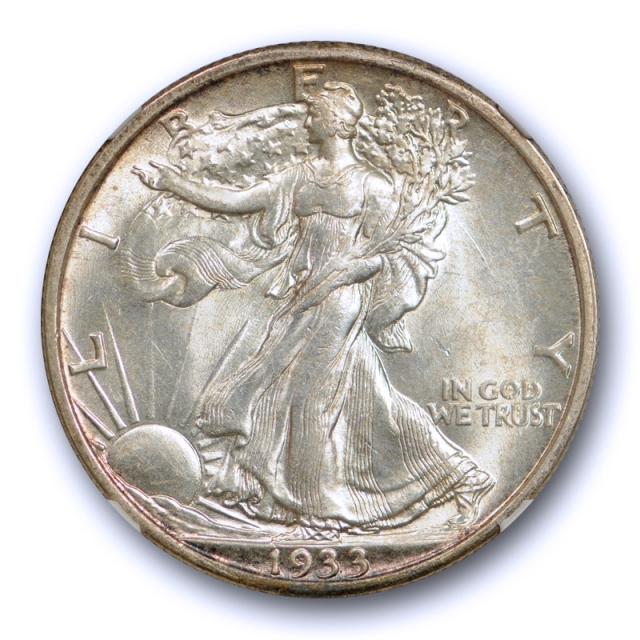 1933 S 50C Walking Liberty Half Dollar NGC MS 62 Uncirculated Better Date Tough !