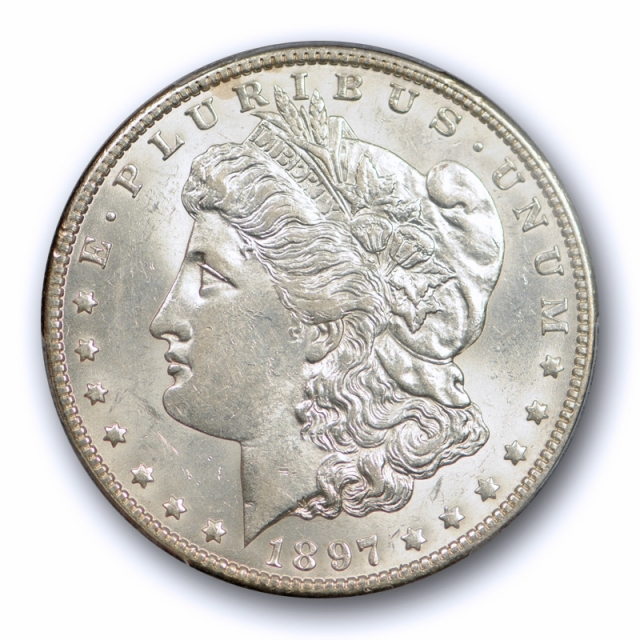 1897 O $1 Morgan Dollar PCGS AU 58 About Uncirculated Better Date Tough Grade !