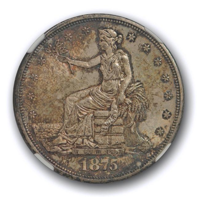 1875 CC T$1 Trade Dollar NGC MS 63 Uncirculated Carson City Mint Original Toned