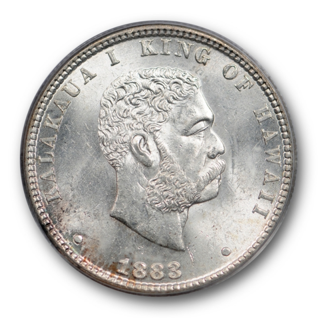 1883 25c Kingdom of Hawaii Quarter PCGS MS 64 Uncirculated Lustrous Older Holder