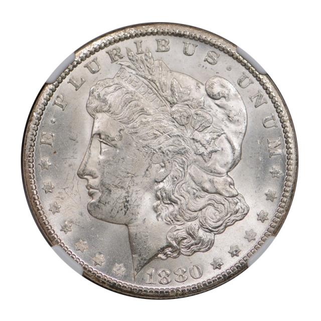 1880 CC $1 Morgan Dollar NGC MS 62 Uncirculated Carson City Mint Blast White !