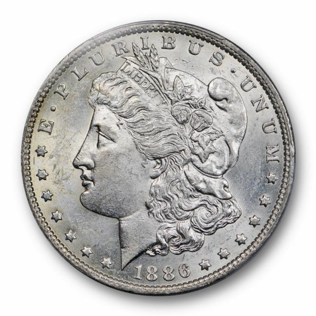 1886 O $1 VAM 1A Morgan Dollar PCGS AU 58 About Uncirculated Clashed E