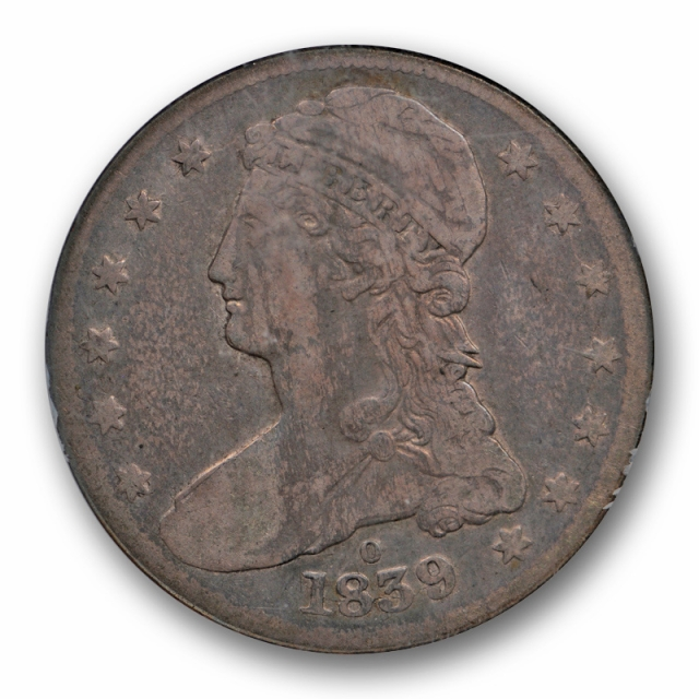 1839 O 50c Capped Bust Half Dollar NGC F 12 Reeded Edge Fine Key Date Original