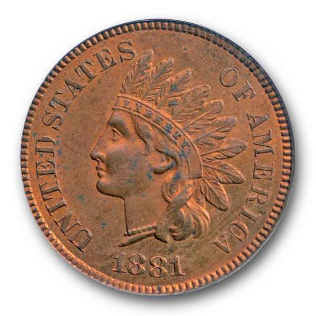 1881 1C Indian Head Cent PCGS MS 64 RB Uncirculated Red Brown Original !