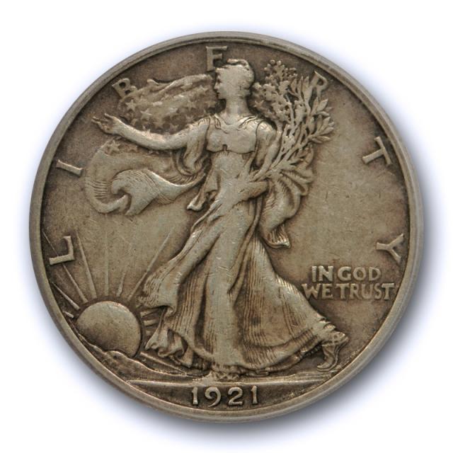 1921 S 50C Walking Liberty Half Dollar ICG EF 40 XF Extra Fine Key Date Tough !