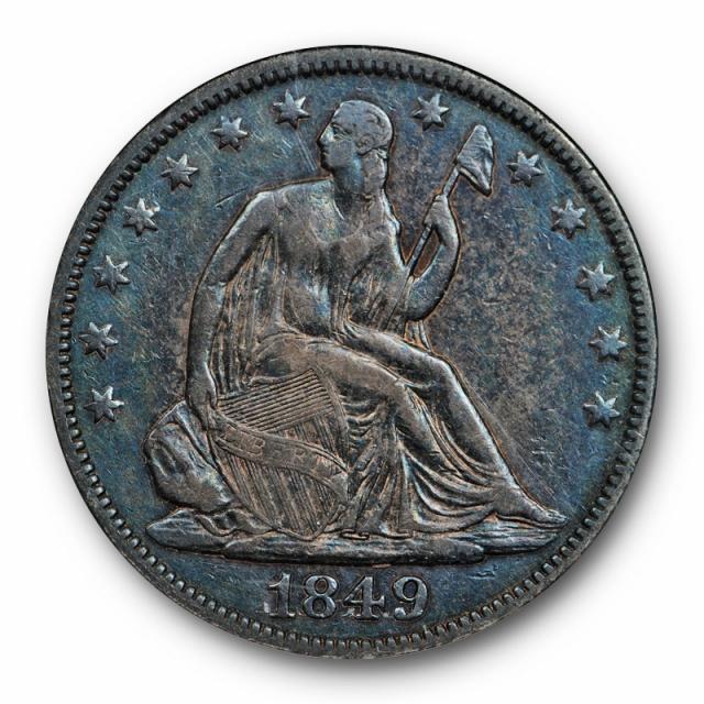 1849 50C Seated Liberty Half Dollar ANACS EF 45 RPD FS-301 WB-102 RPD