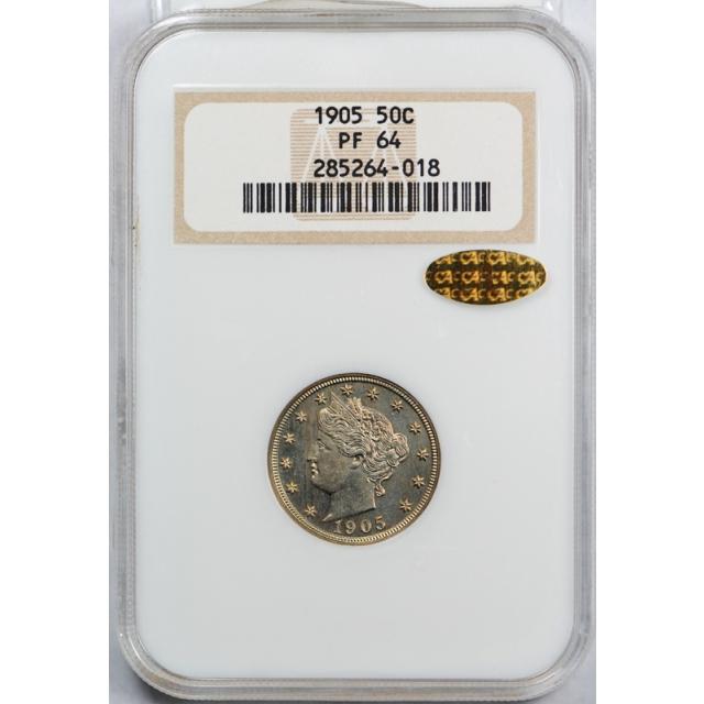 1905 Liberty Nickel PR  64 Proof Old Fatty / Holder Error / Gold CAC Sticker