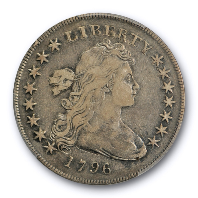 1796 $1 Draped Bust Dollar PCGS VF 25 Very Fine to Extra Fine Small Date, Lg Let