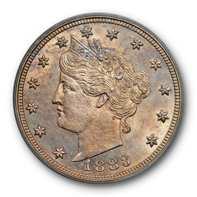 1883 5C With Cents Liberty Head Nickel ICG MS 66 Uncirculated Toned Beauty