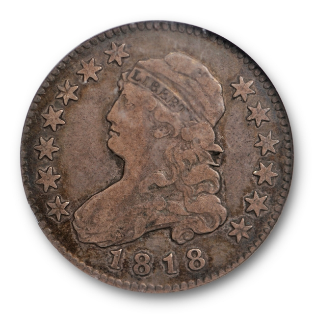 1818/5 Capped Bust Quarter NGC VF 20 B 1 Very Fine CAC Approved Pop 1
