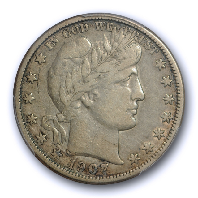 1907 O 50C Barber Half Dollar PCGS VF 35 Very Fine to Extra Fine New Orleans Mint Original