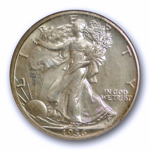 1936 50c Proof Walking Liberty Half Dollar NGC PF 66 Low Mintage !