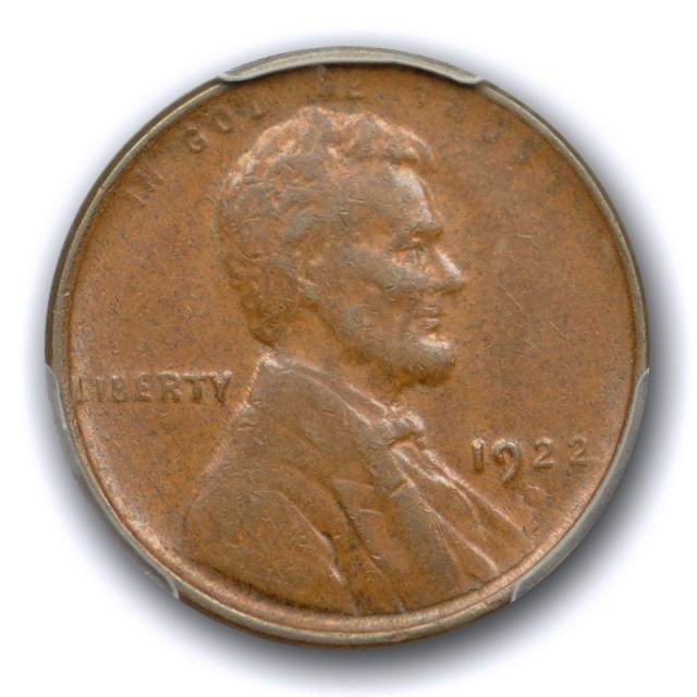1922 Weak D 1c Lincoln Wheat Cent PCGS AU 55 About Uncirculated (Not Designated) No#3841