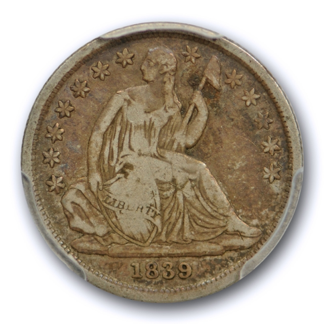 1839 O 10C No Drapery Seated Liberty Dime PCGS VF 20 Very Fine New Orleans Mint