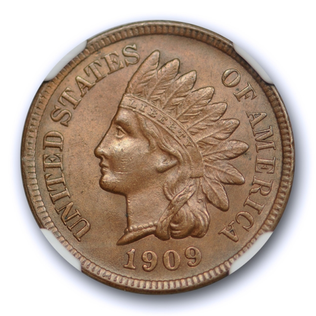 1909 S 1c Indian Head Cent NGC MS 62 BN Uncirculated Brown Key Date San Francisco