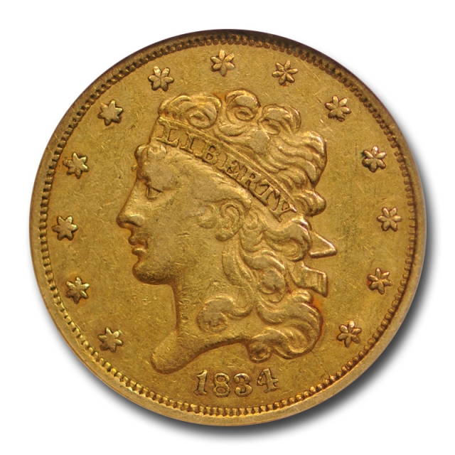 1834 $5 Classic Head $5 Gold Piece NGC XF 40 Extra Fine CAC Approved Nice !