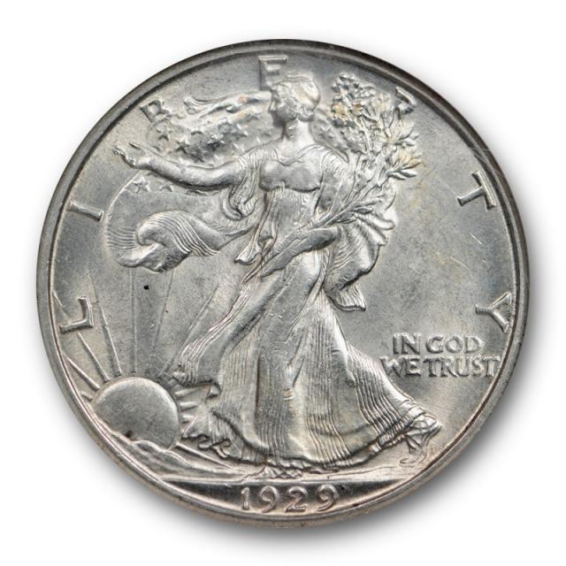 1929 D Walking Liberty Half Dollar 50C NGC AU 58 About Uncirculated Sharp Strike !