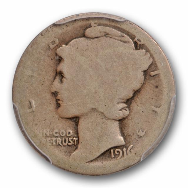 1916 D 10C Mercury Dime PCGS FR 2 Denver Mint Key Date 02 Low Grade Cert#9018