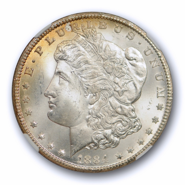 1884 CC $1 Morgan Dollar NGC MS 66 Uncirculated Carson City Mint Exceptional !