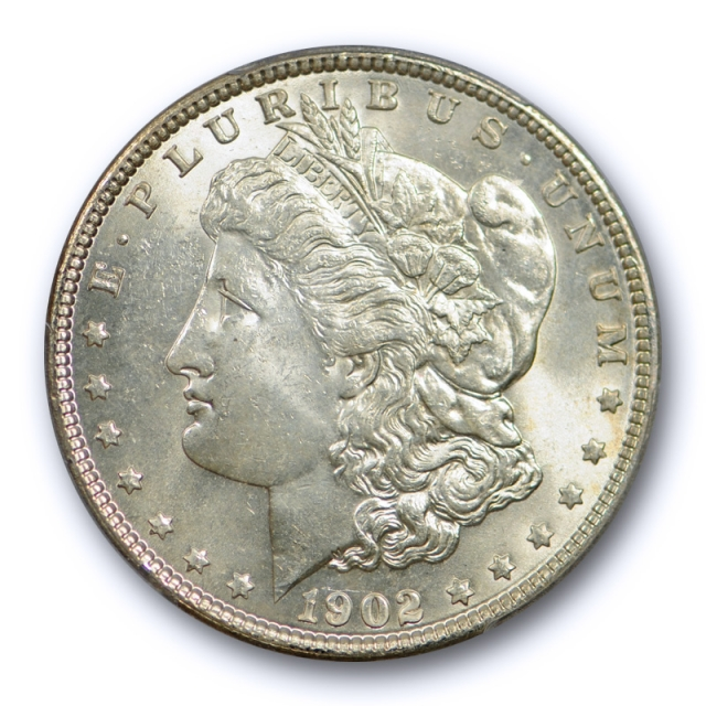 1902 $1 Morgan Dollar PCGS MS 64 Uncirculated Better Date Very Lightly Toned