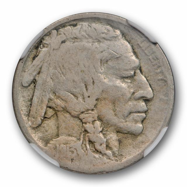 1913 D Type Two Buffalo Head Nickel NGC F 12 Fine TY 2 Key Date Denver Mint Cert#6017