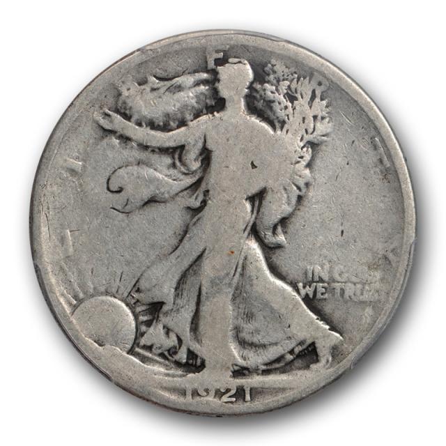 1921 50C Walking Liberty Half Dollar PCGS G 4 Good Key Date Philadelphia Mint Cert#9082