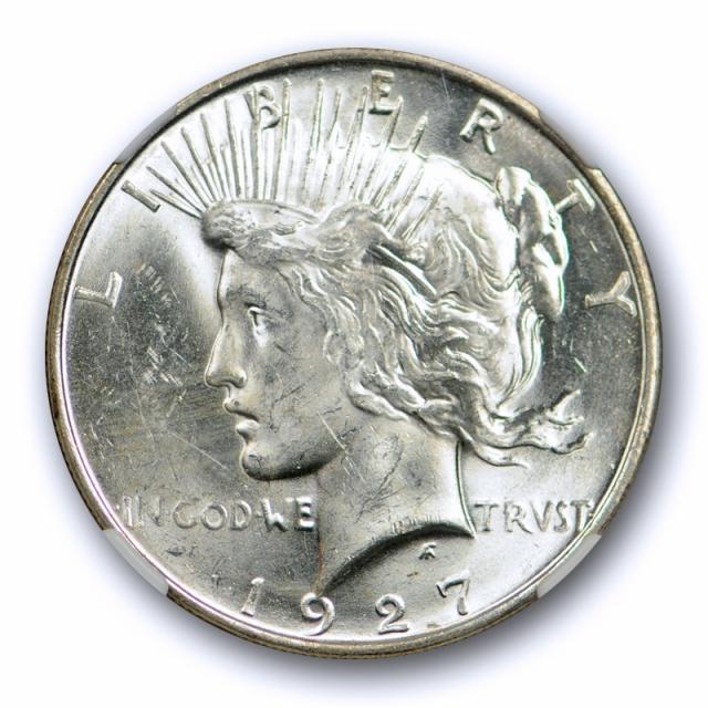 1927 D $1 Peace Dollar NGC MS 62 Uncirculated Sharp Strike Lustrous Beauty