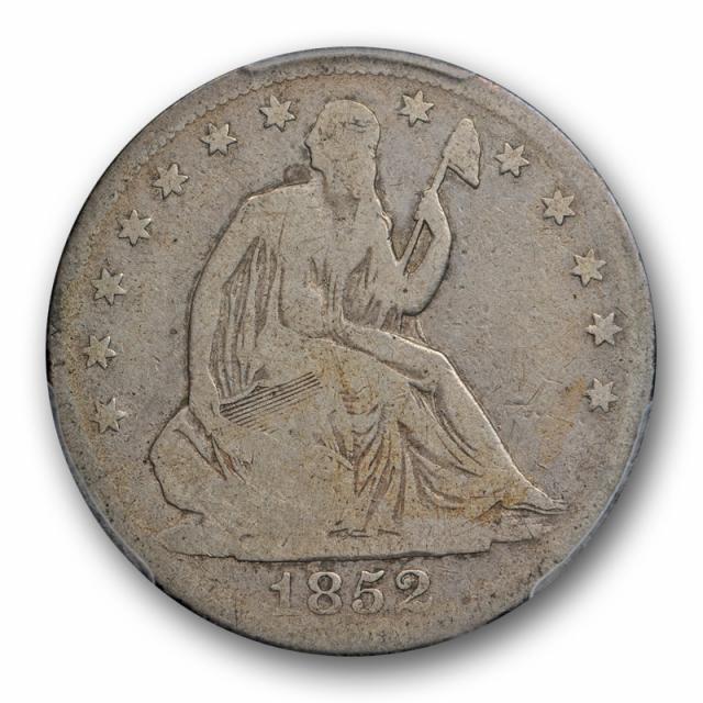 1852 O 50C Seated Liberty Half Dollar PCGS VG 8 Very Good Key Date Tough Coin Original