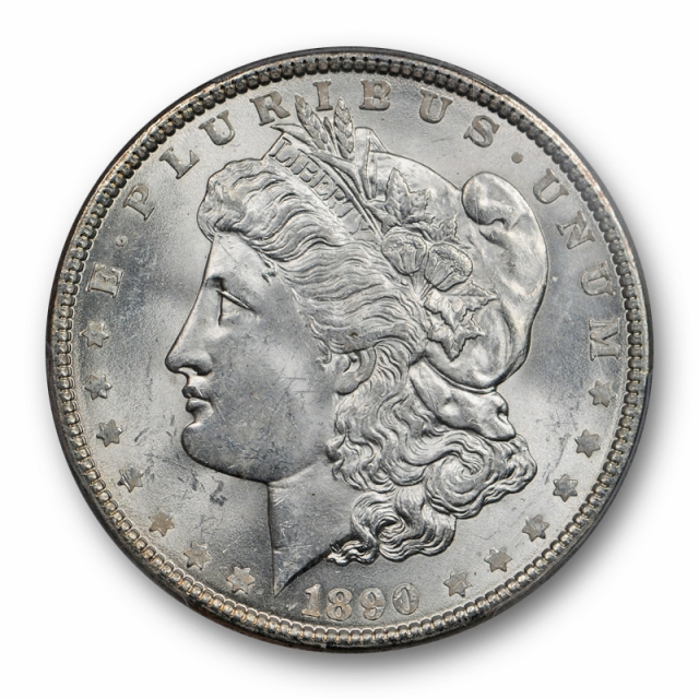 1890 $1 Morgan Dollar PCGS MS 63 Uncirculated Exceptional Blast White Cert#4142