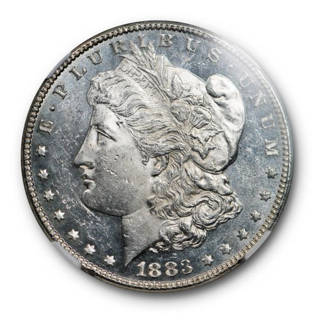 1883 $1 Morgan Dollar NGC MS 62 DMPL Uncirculated Deep Mirror Proof Like White