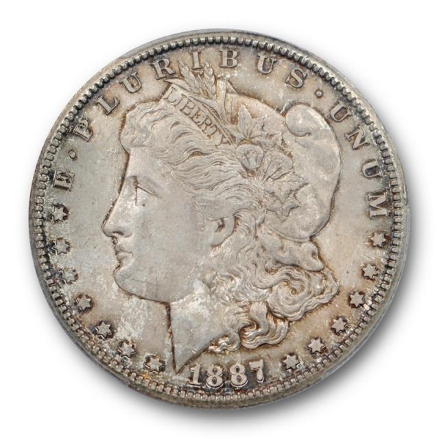 1887 S $1 Morgan Dollar PCGS MS 64 Uncirculated Toned Original Better Date