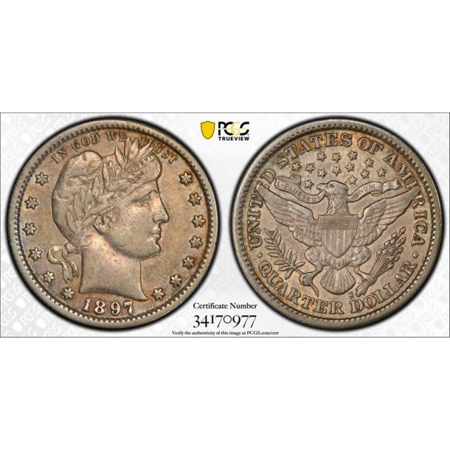 1897 S 25C Barber Quarter PCGS XF 40 Extra Fine San Francisco Mint Key Date