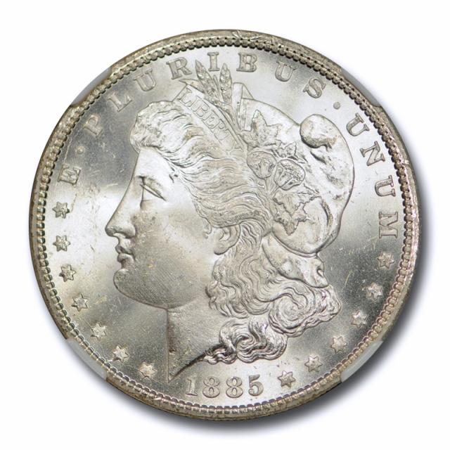 1885 CC $1 Morgan Dollar NGC MS 65 Uncirculated Carson City Blast White ! Cert#7002