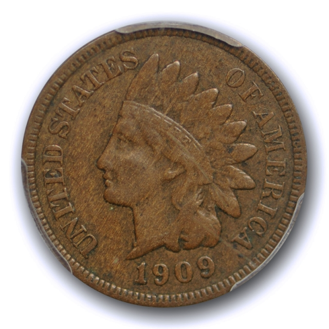 1909 S 1C Indian Head Cent PCGS VF 30 Very Fine to Extra Fine Key Date US Coin Cert#5351