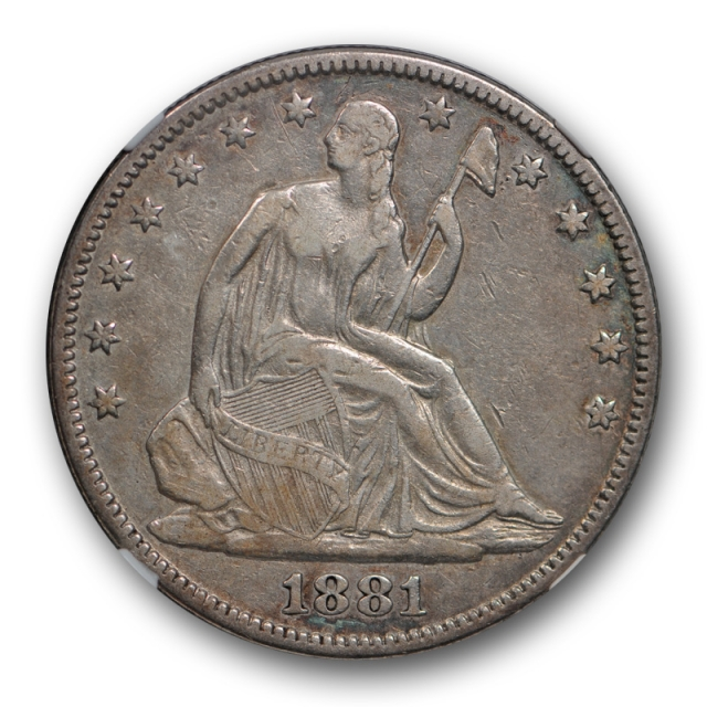 1881 Seated Liberty Half Dollar NGC VF 25 Very Fine to Extra Fine Key Date