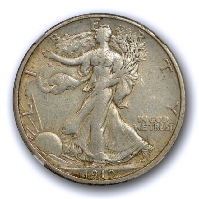1919 S 50c Walking Liberty Half Dollar NGC AU 50 About Uncirculated CAC Approved